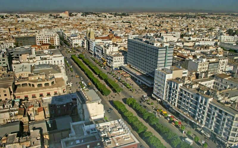 Vista de la avenida Habib Bourguiba