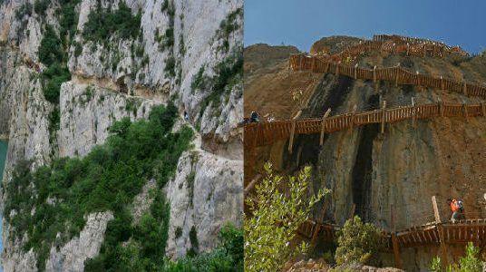 De ruta por el desfiladero de Mont-rebei y las pasarelas de Montfalcó